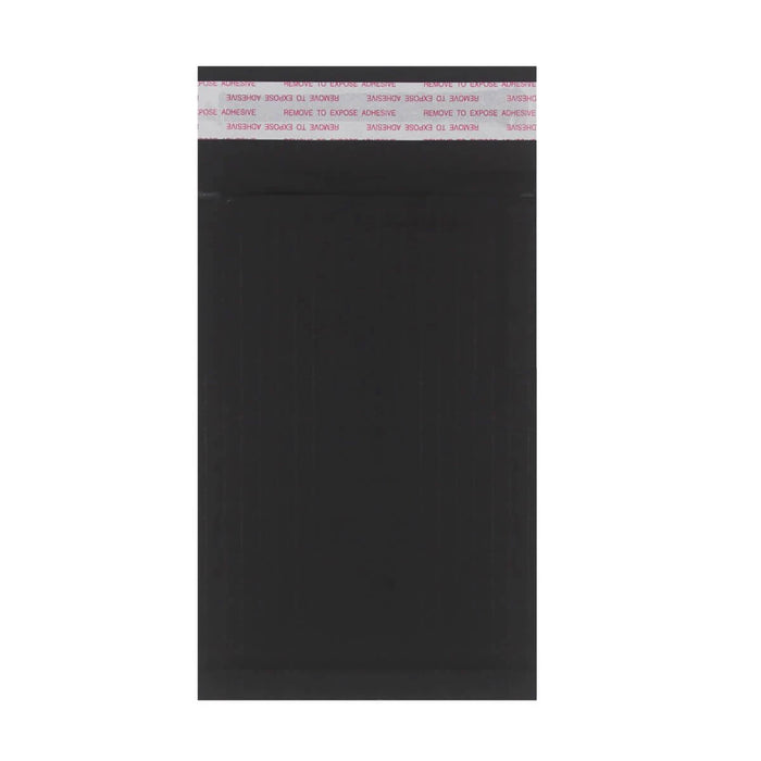 165 x 100mm Black 180gsm Recyclable Corrugated Bags [Qty 200] (4441082888281)