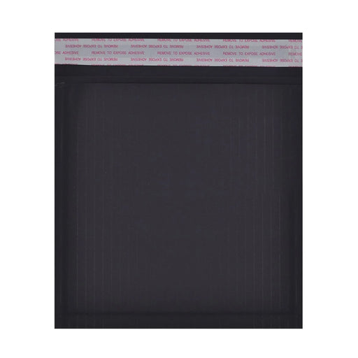 165 x 165mm Black 180gsm Recyclable Corrugated Bags [Qty 200]