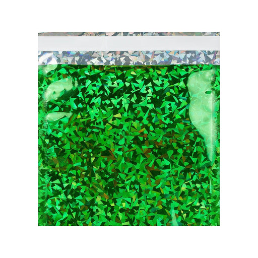 165 x 165 Green Holographic Foil Bags [Qty 250] (2131387908185)