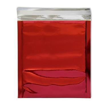 165 x 165 Red Foil Postal Envelopes / Bags [Qty 250] (2131196575833)