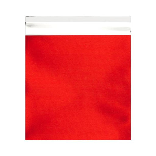 165 x 165 Matt Red Foil Postal Bags [Qty 250] (2131309822041)