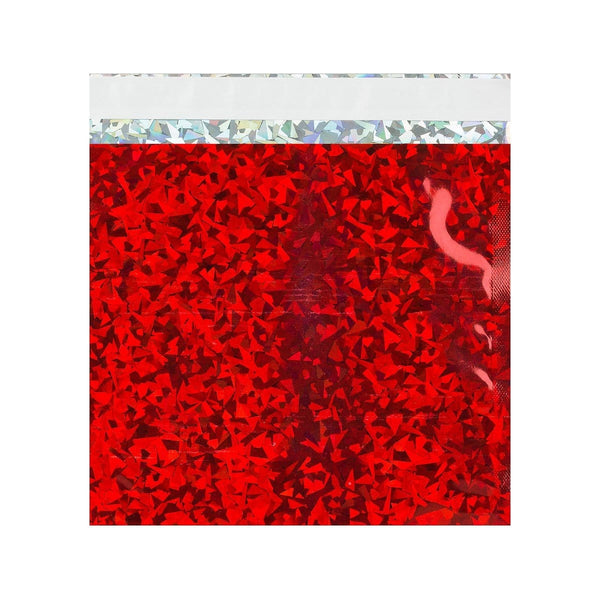 165 x 165 Red Holographic Foil Bags [Qty 250] (2131388039257)