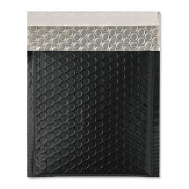 165 x 165 Matt Black Padded Bubble Envelopes [Qty 100]