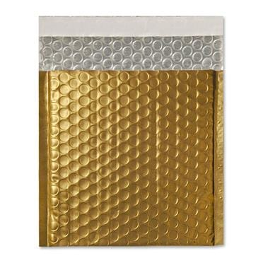 165 x 165 Matt Gold Padded Bubble Envelopes [Qty 100]