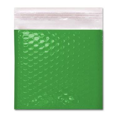 165 x 165 Gloss Green Padded Bubble Envelopes [Qty 100] (2131230916697)