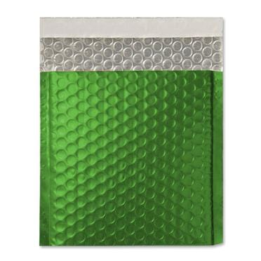 165 x 165 Matt Green Padded Bubble Envelopes [Qty 100]