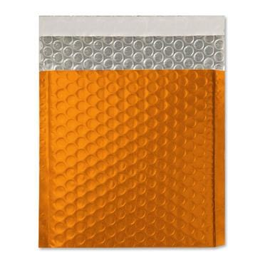165 x 165 Matt Orange Padded Bubble Envelopes [Qty 100] (2131220758617)