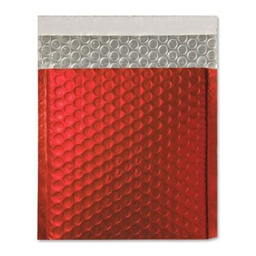 165 x 165 Matt Red Padded Bubble Envelopes [Qty 100]