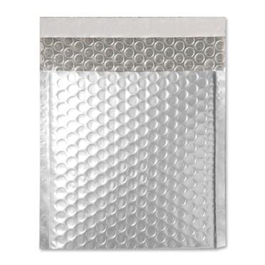 165 x 165 Matt Silver Padded Bubble Envelopes [Qty 100]