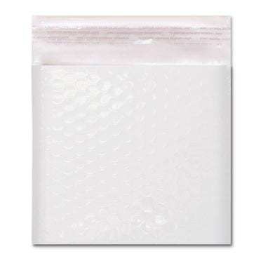 165 x 165 Gloss White Padded Bubble Envelopes [Qty 100] (2131231801433)