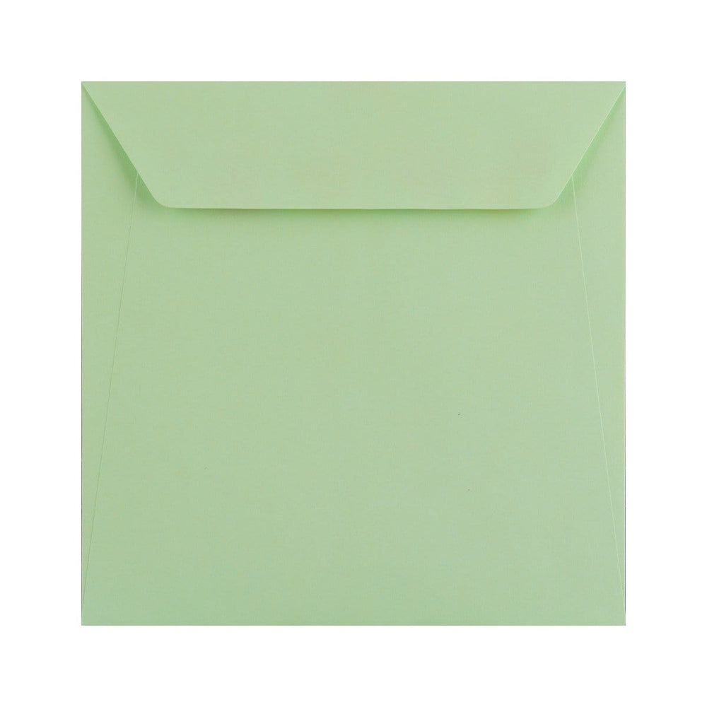 170 x 170 Pastel Green 100gsm Peel & Seal Envelopes [Qty 500]