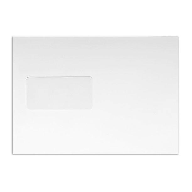 178 x 241 White 225gsm Luxury Peel & Seal Pocket Window Envelopes [Qty 250] (2131060981849)