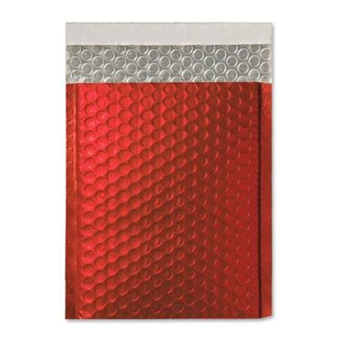 C5+ Matt Red Padded Bubble Envelopes [Qty 100] 180mm x 250mm (2131222134873)