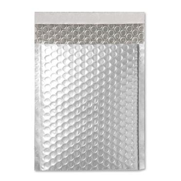 C5+ Poly Matt Silver Padded Bubble Envelopes [Qty 100] 180mm x 250mm (2131222331481)