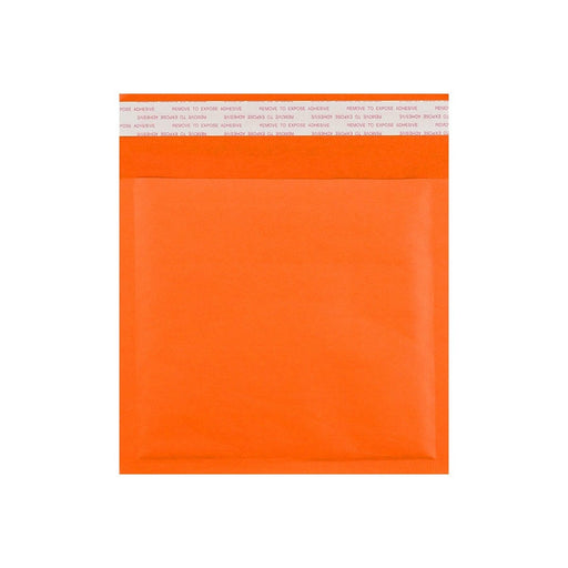 165 x 165 Orange Padded (Paper Finish) Bubble Envelopes [Qty 100]