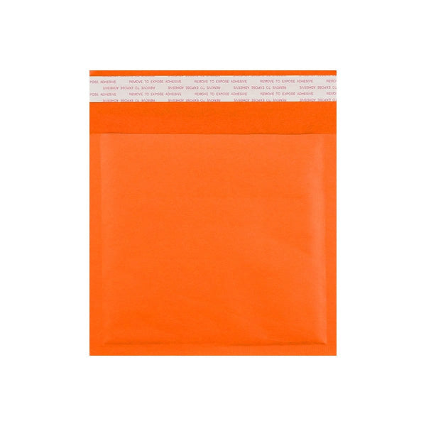 165 x 165 Orange Padded (Paper Finish) Bubble Envelopes [Qty 100] (2131291897945)