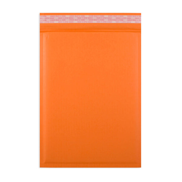 215 x 150mm Orange 180gsm Recyclable Corrugated Bags [Qty 100] (4441093668953)