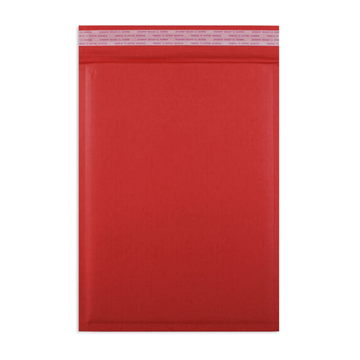 215 x 150mm Red 180gsm Recyclable Corrugated Bags [Qty 100]