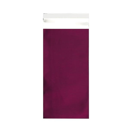DL Burgundy Matt Foil Postal Envelopes / Bags [Qty 250] 220 x 110mm (2131310182489)