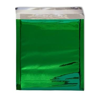220 x 220 Green Foil Postal Envelopes / Bags [Qty 250]