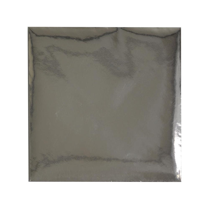 220 x 220 Square Metallic Silver Mirror Finish 120gsm Gummed Envelopes [Qty 50]