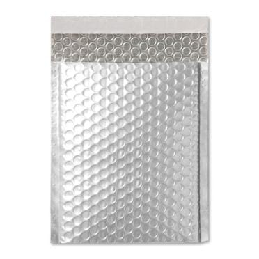 C4 Matt Silver Padded Bubble Envelopes [Qty 100] 230mm x 324mm