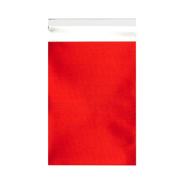 C5+ Matt Red Metallic Foil Envelopes / Bags [Qty 250] 180 x 250mm