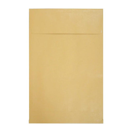 254 x 381 x 25 Manilla Gusset Pocket 140gsm Peel & Seal Envelopes [Qty 125]