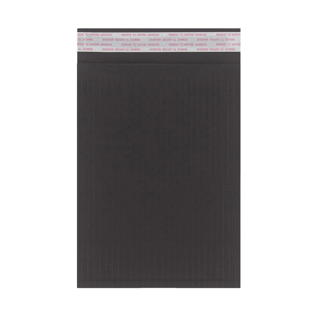 265 x 180mm Black 180gsm Recyclable Corrugated Bags [Qty 100] (4441058934873)