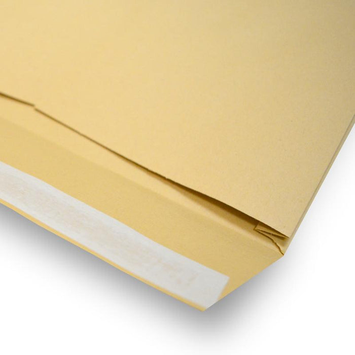 305 x 406 x 30mm Manilla Gusset 140gsm Peel & Seal Envelopes [Qty 125] (2131118653529)