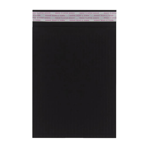 340 x 240mm Black 180gsm Recyclable Corrugated Bags [Qty 100]