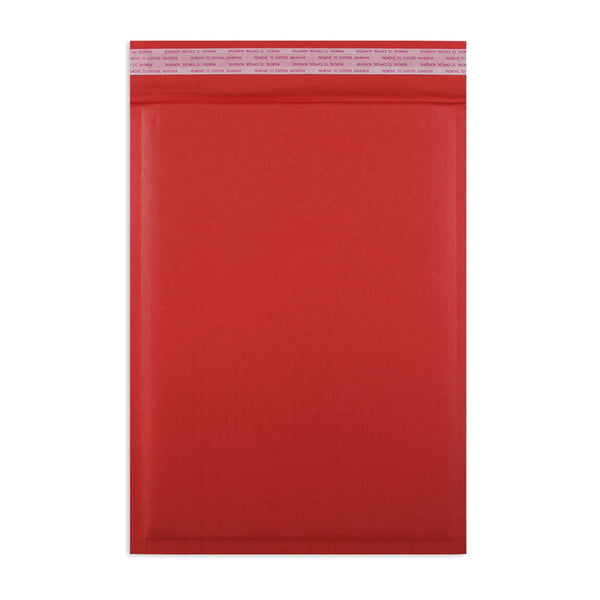 265 x 180mm Red 180gsm Recyclable Corrugated Bags [Qty 100]