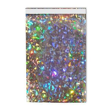 DL Silver Holographic Foil Postal Envelopes / Bags [Qty 250] 114 x 229mm