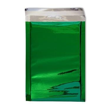 DL Green Foil Postal Envelopes / Bags [Qty 250] 114 x 229mm (2131195232345)