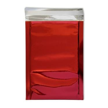 DL Red Foil Postal Envelopes / Bags [Qty 250] 114 x 229mm