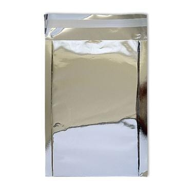 DL Silver Foil Postal Envelopes / Bags [Qty 250] 114 x 229mm (2131195527257)