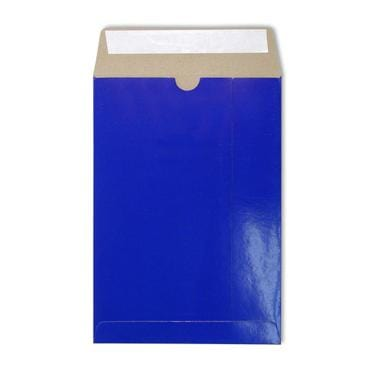 C4 Blue Gloss 350gsm All Board Envelopes [Qty 100] 229 x 324mm