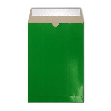 C4 Green Gloss 350gsm All Board Envelopes [Qty 100] 229 x 324mm