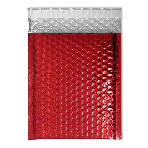 C4 Metallic Red Padded Bubble Envelopes [Qty 100] 230mm x 324mm