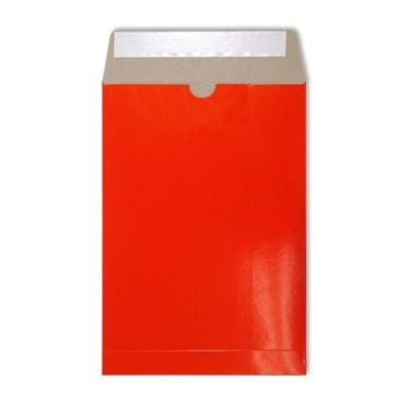 C4 Red Gloss 350gsm All Board Envelopes [Qty 100] 229 x 324mm