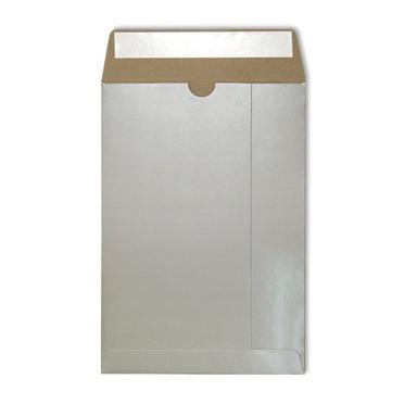 C4 Silver Gloss 350gsm All Board Envelopes [Qty 100] 229 x 324mm