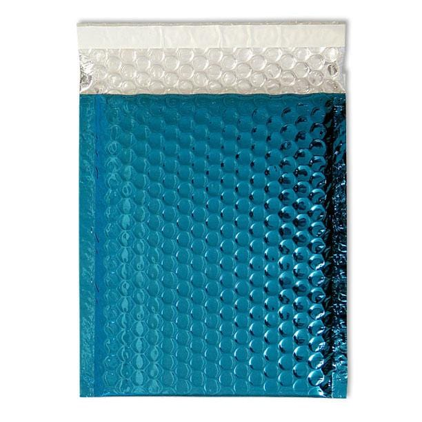 C5+ Metallic Blue Padded Bubble Envelopes [Qty 100] 180mm x 250mm