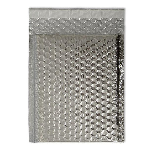 C5+ Metallic Silver Padded Bubble Envelopes [Qty 100] 180mm x 250mm