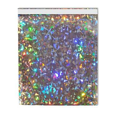 165 x 165 Silver Holographic Foil Postal Bags [Qty 250]