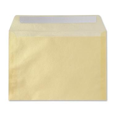114 X 162 Translucent C6 Gold Peel & Seal Envelopes [Qty 100] (2131269255257)