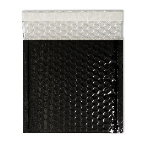 Metallic Black Bubble Envelopes 158mm x 153mm [Qty 100]