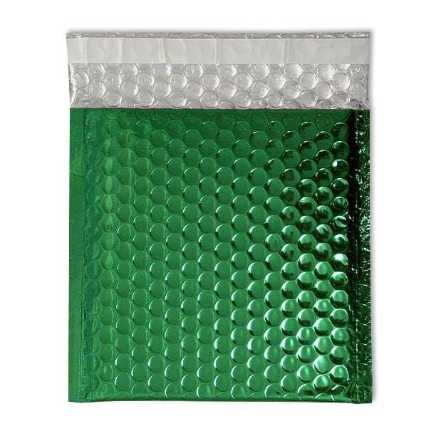 Metallic Green Square Padded Bubble Envelopes [Qty 100] 230mm x 230mm
