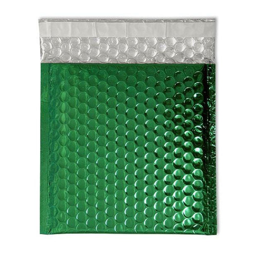 165 x 165 Metallic Green Padded Bubble Envelopes [Qty 100] (2131238551641)