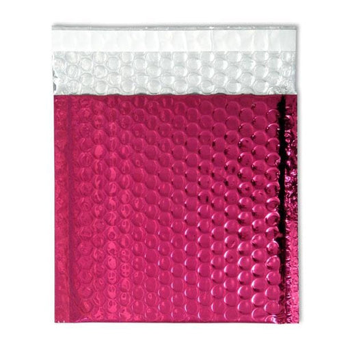 165 x 165 Metallic Hot Pink Padded Bubble Envelopes [Qty 100] (2131238813785)