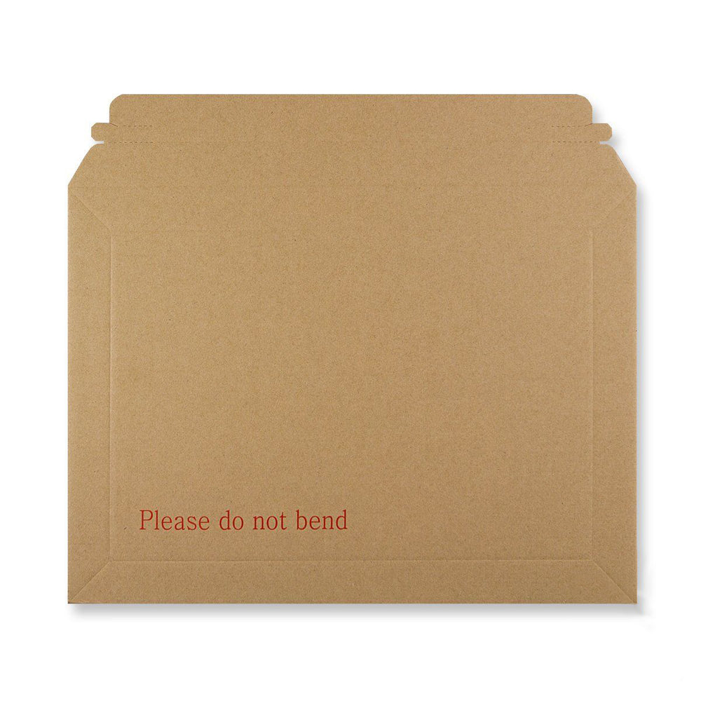 Rigid Fluted Printed Cardboard Envelope 255 x 345mm [Qty 100] (4438273785945)